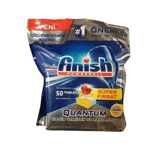 قرص ماشین ظرفشویی کوانتوم ۵۰ تایی فینیش (Finish)